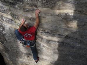 6. den - lezení ve vstupním obvodu v Teplicích, foto R. Lienerth