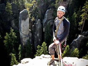 3. den - Stefan na vrcholu Starosty, foto J. Wiklund