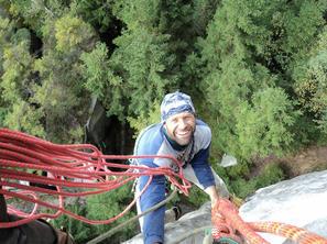 5. den - Oťas při lezení v Teplicích, foto J. Wiklund