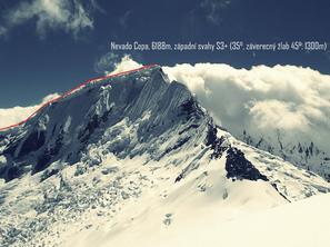 Nevado Copa, topo, Peru: